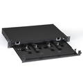 Rackmount Fiber Shelf, Pull-Out Tray, 1U